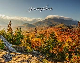 Inspirational Photo, Autumn Photo, Fall Foliage, Landscape Art, Adirondack Mountains, Mountain Photo, Go Explore, Nature Print, Adirondacks