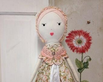 Rag Doll / Handmade Rag Doll / Cloth Doll / Fabric Dolls /Custom Made Cloth Dolls / Dolls / Spoon Ragdoll / Children's Toys / Stuffed Lovies