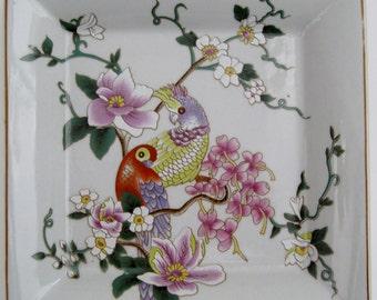 Square Porcelain Plates, Set of 4