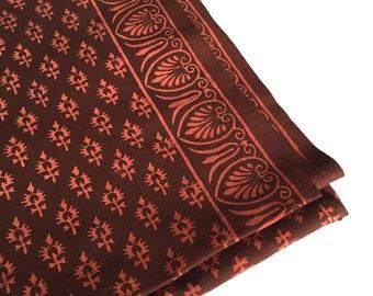 1 yard hand block printed fabric