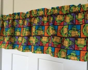 Teenage Mutant Ninja Turtles Boys Kids Room Curtain Valance