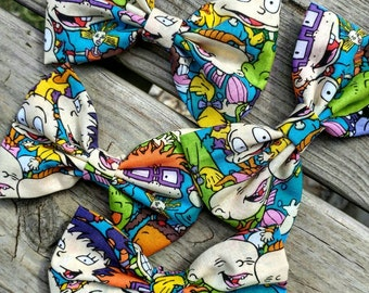 Rugrats hair bow, rugrats bow, hair bow, girls bow, Nickelodeon hair bow, rugrats, Nickelodeon, bow, 90s, 90s hair bow