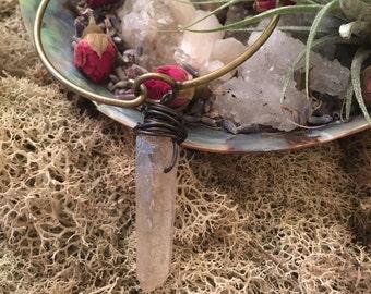 Rose quartz wrapped braclet