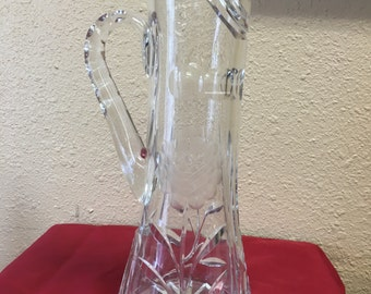 Tall Crystal Pitcher