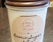 Brown Sugar & Fig handcrafted candle