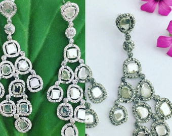 earrings with flat diamonds