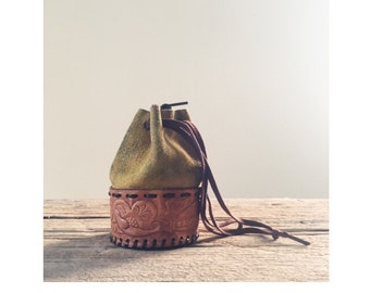 Vintage Suede and Leather Coin Purse