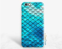 Blue Mermaid Fish Scale phone case iPhone 6 6s 6Plus 6S + case iPhone SE 5 5s 5c 4 4s case Blue Mermaid Scale Samsung Galaxy S7 S6 S5 S4 S3