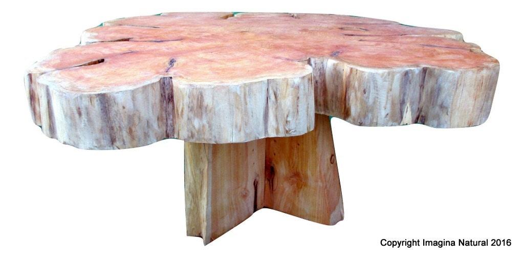 Large Cypress Handmade Tree Slice Slab Coffee Table Rustic