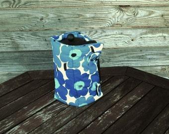 French Press Coffee Tea Pot Cozy Warmer, Coffee Tea Pot Cover,Cotton Warmer,Blue Flower