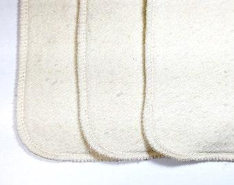 18 Organic hemp cotton fleece 2 layer inserts - super absorbent!