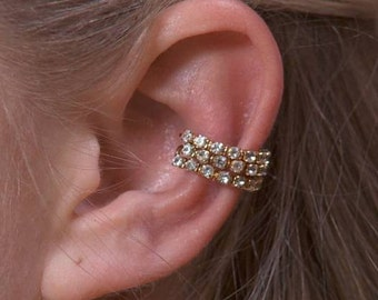 Triple Crystal Band - Ear Cuff