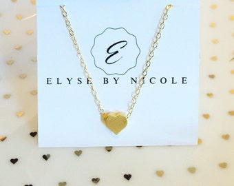 Petite gold Heart necklace