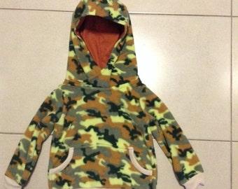 Boys Camo Polar fleece hoodie