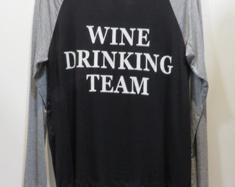 Wine Drinking Team Womens Long Sleeve