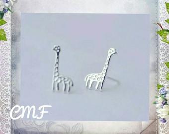 Giraffe Earrings 925 Sterling Silver Earrings Stud Earrings