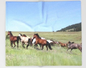 Horse Blanket | Proceeds to Charity | Horse Decor | Animal Blanket | Queen Blanket | Fleece Blanket | Soft Throw Blanket | Horse Home Decor