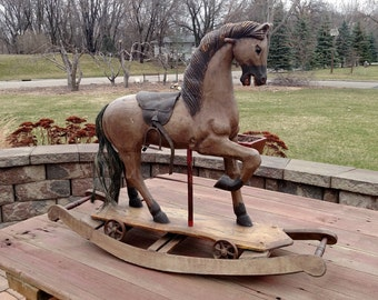 Antique Rocking/Rolling Carved horse