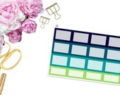 SBC July Square Boxes -- Matte Planner Stickers