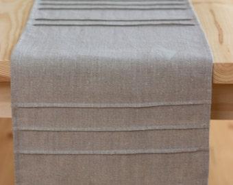 Table runner, gray linen, rustic runner, 100% natural, long runner, 12 inches wide