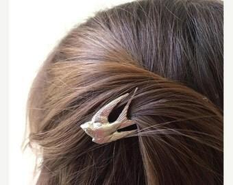 Silver Swallow Bobby Pin Bridal Hair Pin Bird Hair Clip Hair Accessory Woodland Wedding Bridal Hair Clip Boho Hair Woodland Bride Ba