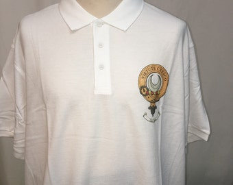 Clan Leask polo shirt, XXL