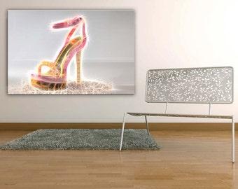 "Canvas ""Pink Heels"""