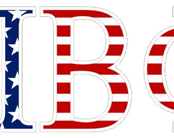 pi beta phi american flag greek letter sticker 25