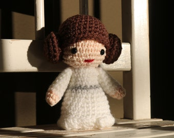 Star Wars Princess Leia Amigurumi,  hand crocheted