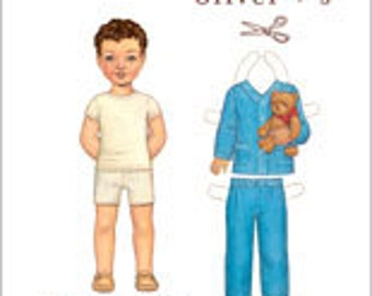 Oliver + S Sleepover Pyjamas pattern for girls or boys.