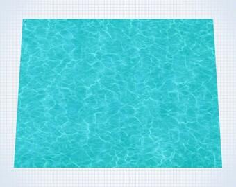 "Tropical Waters - #GM202 - 60"" x 80"" (4' x 6' plus) Fleece Table Top Gaming Mat"
