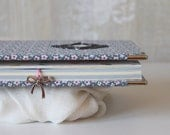 Fabric covered notebook, writing journal, girl's diary, custom notebook, A5 notebook