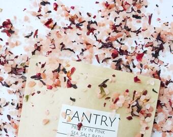 Pretty in Pink Sea Salt Bath: Pamper your Valentine!