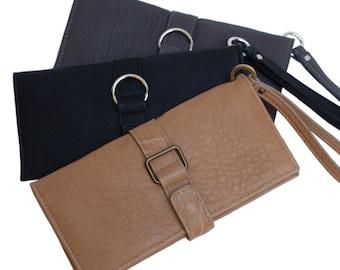 Leather clutch wallet. Italian artisan quality