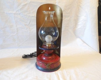 Vintage Electric Wall hanging Hurricane Lamp