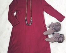 Love You Madly Mock Turtleneck Dress