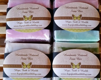 Handmade Melt and Pour soap bars