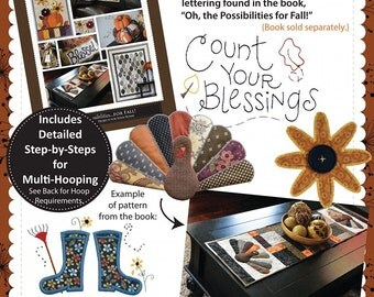 Oh the Possibilities for Fall! Companion Embroidery CD by KimberBell KD531