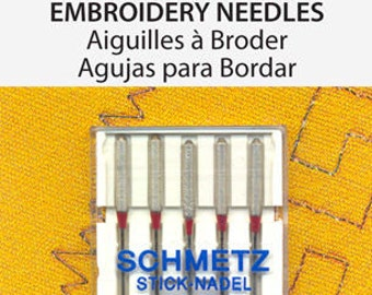 Schmetz Embroidery Needle 90/14 5 Pack
