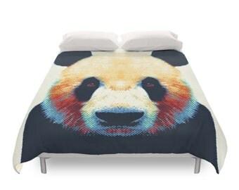 Panda Duvet Cover - Colorful Animals