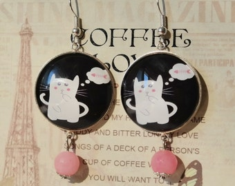 Hungry Cat Earrings