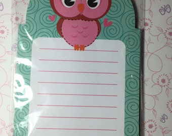 Cute Owl Memo Pad