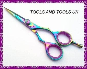Professional 5.5 Titanium Hairdressing Scissors Shears 100% J2 Japanese Steel