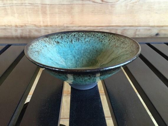 Mizu bowl # 119, turquoise black