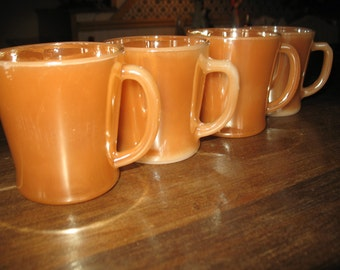 Fire King peach luster 1960 cups