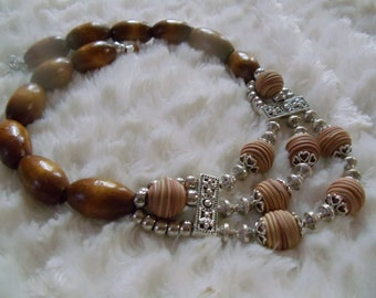 Statement necklace Cora Brown ethnic hippie