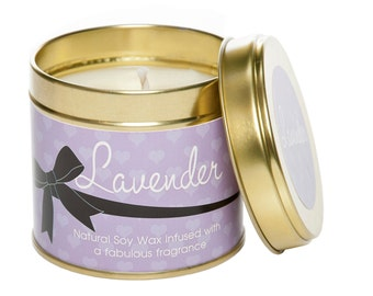 Relaxing lavender aromatherapy candle, soy wax candle, scented candle, gift for her