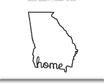 Georgia Home State Outline Graphic | Digital Download | Ready to Use!