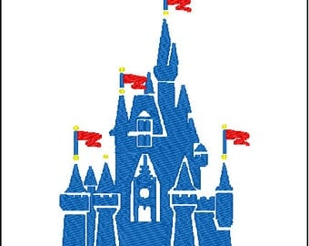 Magic Kingdom Castle Embroidery Design
