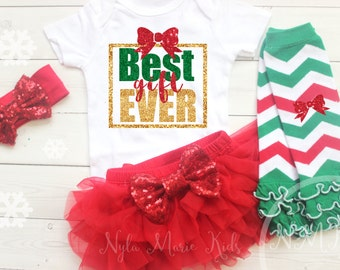 Newborn Girl Christmas Outfit, Baby Girl Christmas Outfit, Best Gift Ever, Coming Home Outfit, My 1st Christmas, Newborn Christmas,